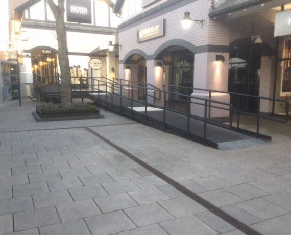 Temporary Access Ramp, Cheshire Oaks